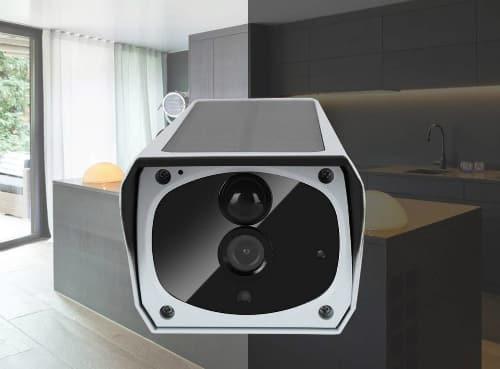 Caméra de surveilance extérieure solaire étanche