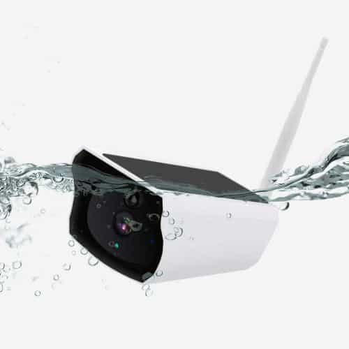 Caméra de surveilance solaire extérieure Roebii étanche