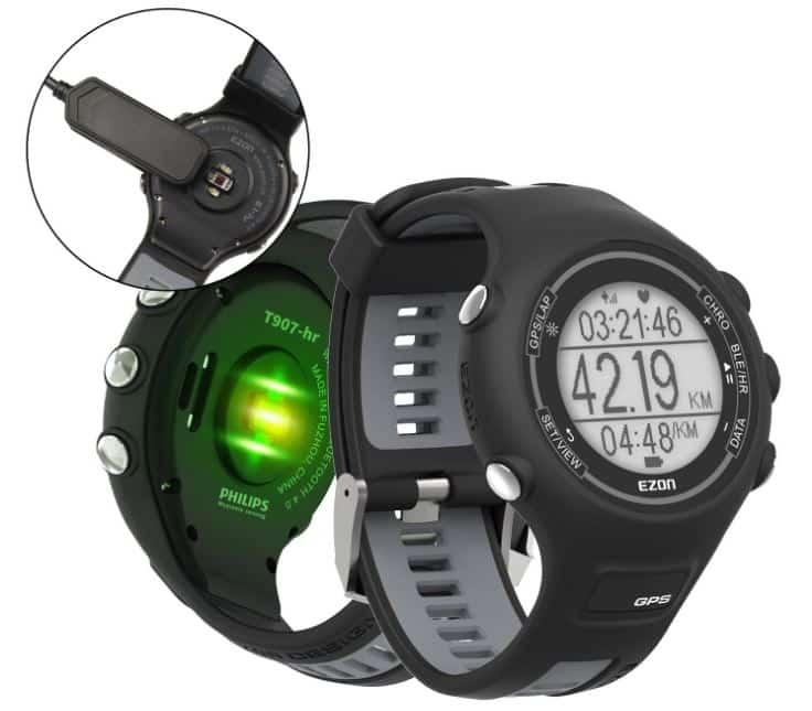 Voici la montre GPS Running EZON T907-HR