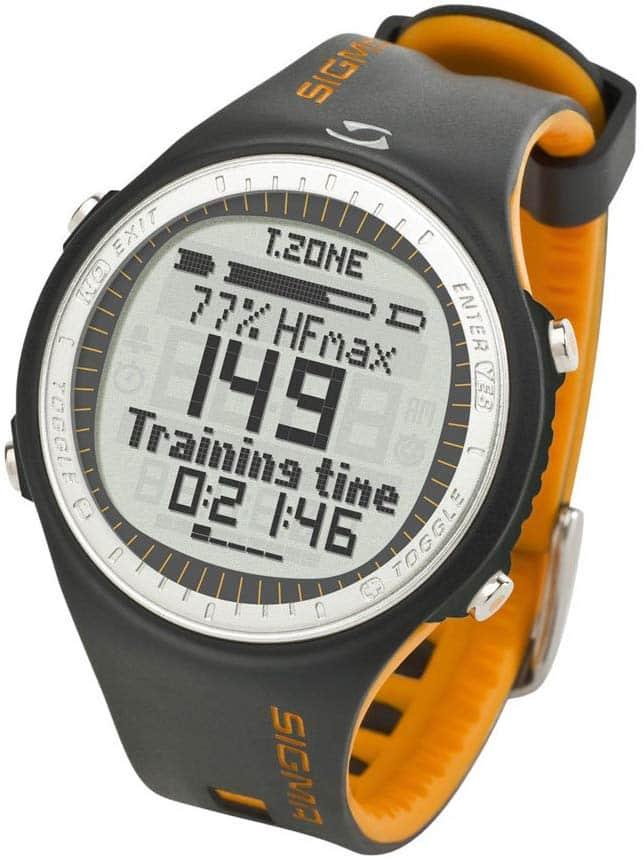 Voici la montre GPS Running Sigma Cardiofréquencemètre