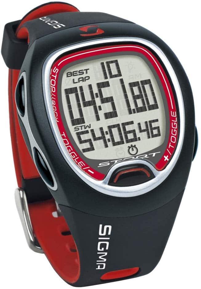 La montre GPS Running Sigma SC 6.12 avec chronomètre