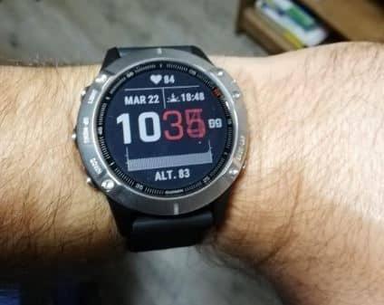 Voici une montre GPS running Garmin Fenix 6