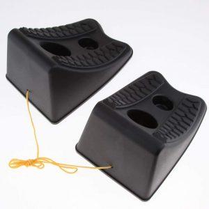 perfk Paire de Cale de Roue en Plastique Accessoire de Véhicule