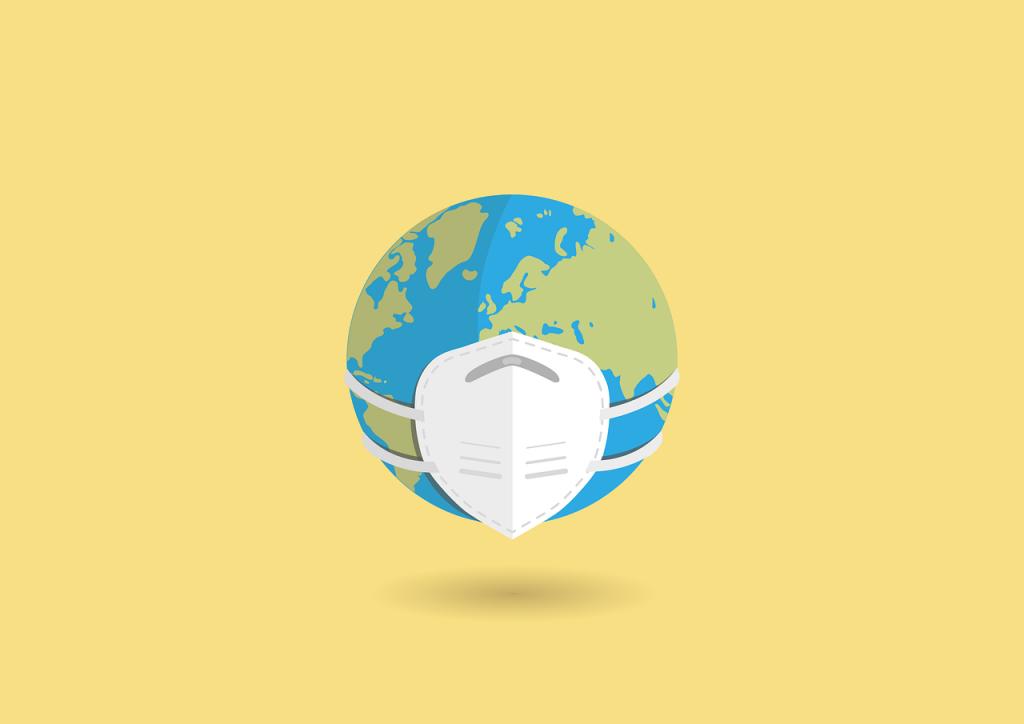 Illustration d'une planete avec un masque