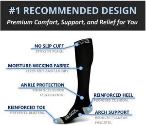 Il s'agit d'une paire de chaussettes idéale pour le maintien des mollets