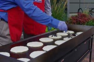cuisson de pancakes