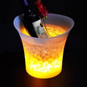 Un seau lumineux à champagne de qualité supérieure